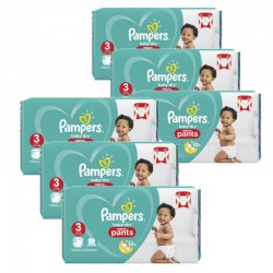 52 Couches Pampers Baby Dry Pants taille 3 sur Les Looloos
