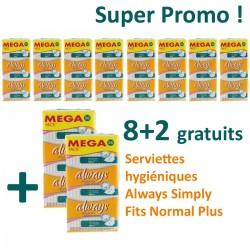 Always - Simply Fits 360 Serviettes hygiéniques - 10 Packs de 36 Serviettes hygiéniques taille normal plus sur Les Looloos