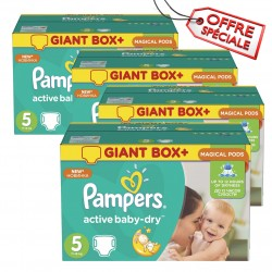 110 Couches Pampers Active Baby Dry taille 5 sur Les Looloos