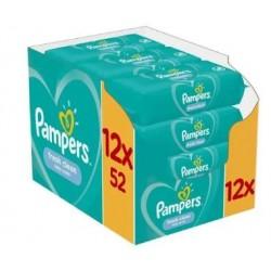 520 Lingettes Bébés Pampers Fresh Clean sur Les Looloos