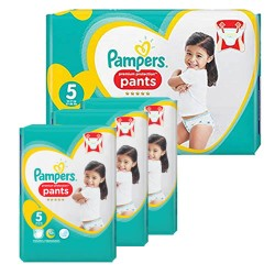 80 Couches Pampers Premium Protection Pants taille 5 sur Les Looloos