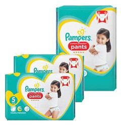 120 Couches Pampers Premium Protection Pants taille 5 sur Les Looloos