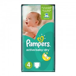 70 Couches Pampers Active Baby Dry taille 4 sur Les Looloos