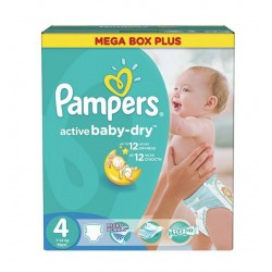 210 Couches Pampers Active Baby Dry taille 4