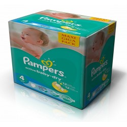 490 Couches Pampers Active Baby Dry taille 4