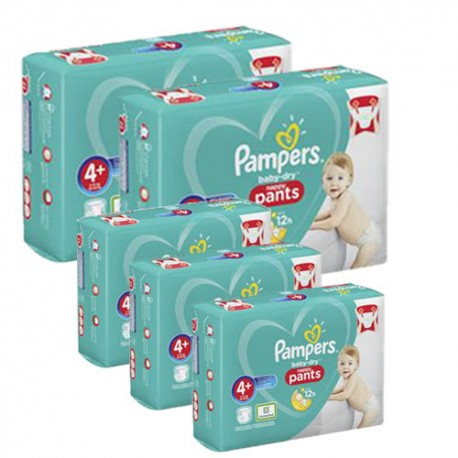 525 Couches Pampers Baby Dry Pants taille 4+ sur Les Looloos