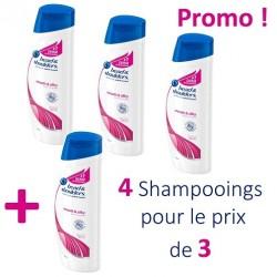 Head & Shoulders - Antipelliculaire Lisse et Soyeux 4 Shampooings - 4 au prix de 3 sur Les Looloos
