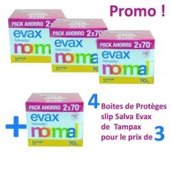 Tampax - Salva Evax 560 Protèges-Slips - 4 Packs de 140 sur Les Looloos