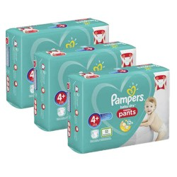 490 Couches Pampers Baby Dry Pants taille 4+ sur Les Looloos