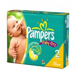Pampers - Baby Dry de 252 Couches taille 2 sur Les Looloos
