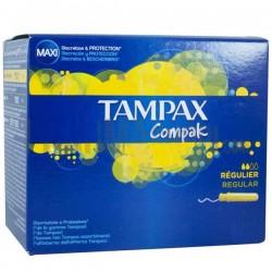 Tampax - Compak de 80 Tampons taille regular avec applicateur sur Les Looloos