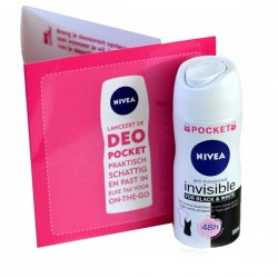 Nivea - Deodorant Invisible Black and White taille Pocket sur Les Looloos