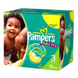 Pampers - Baby Dry de 300 Couches taille 3 sur Les Looloos