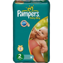 Pampers - Baby Dry 42 Couches taille 2 sur Les Looloos