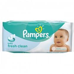 Pampers - Fresh Clean 64 Lingettes Bébés sur Les Looloos