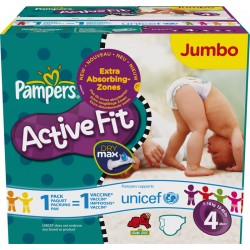 320 Couches Pampers Active Fit Pants taille 4 sur Les Looloos