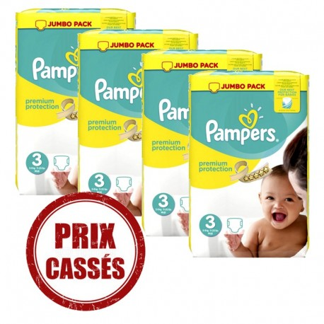 Pack de 96 couches b/éb/é Taille 3 Active Fit 5-9 kg PAMPERS