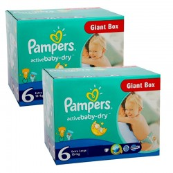 Pampers - Active Baby Dry 288 Couches 6 sur Les Looloos