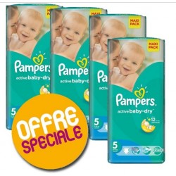 Pampers - Active Baby Dry 504 Couches taille 5 sur Les Looloos