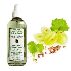 Huile de beauté aux pépins de raisin 100% végétale et pure sur Les Looloos