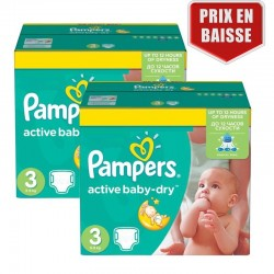 Maxi Giga Pack 410 Couches Pampers Active Baby Dry taille 3 sur Les Looloos