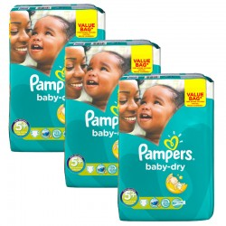 168 Couches Pampers Baby Dry taille 5+ sur Les Looloos