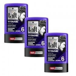 Lot de 3 Taft Gel 300 ml Titane N°6 Tube sur Les Looloos