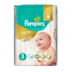 20 Couches Pampers Premium Care Prima taille 3 sur Les Looloos