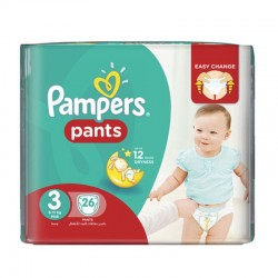 26 Couches Pampers Baby Dry Pants taille 3 sur Les Looloos