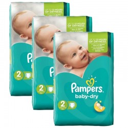 126 Couches Pampers Baby Dry sur Les Looloos