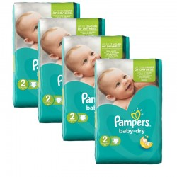 168 Couches Pampers Baby Dry sur Les Looloos