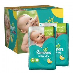 210 Couches Pampers Baby Dry sur Les Looloos