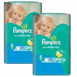 176 Couches Pampers Active Baby Dry sur Les Looloos