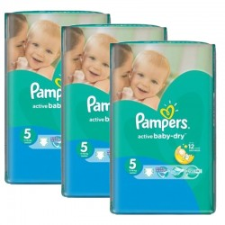 264 Couches Pampers Active Baby Dry sur Les Looloos