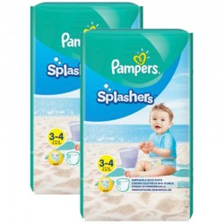 36 Couches de bains Pampers Splashers taille 3 sur Les Looloos
