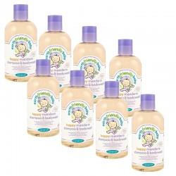 Pack de 8 Gels Douche Shampoing Bio Pour Bébé à la Mandarine sur Les Looloos