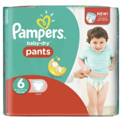 23 Couches Pampers Baby Dry Pants taille 6 sur Les Looloos