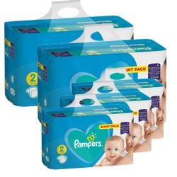 282 Couches Pampers Active Baby Dry taille 2 sur Les Looloos