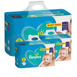 564 Couches Pampers Active Baby Dry taille 2 sur Les Looloos
