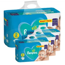 658 Couches Pampers Active Baby Dry taille 2 sur Les Looloos