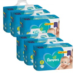 752 Couches Pampers Active Baby Dry taille 2 sur Les Looloos