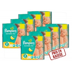 576 Couches Pampers New Baby Dry taille 2