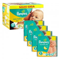 864 Couches Pampers New Baby Dry taille 2 sur Les Looloos