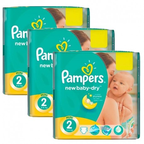 1008 Couches Pampers New Baby Dry taille 2 sur Les Looloos