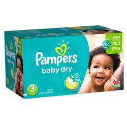 232 Couches Pampers Baby Dry taille 3