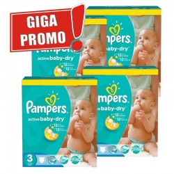 120 Couches Pampers Active Baby Dry taille 3 sur Les Looloos