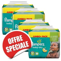 756 Couches Pampers Baby Dry taille 5+ sur Les Looloos