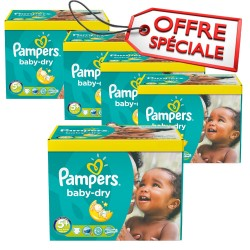840 Couches Pampers Baby Dry taille 5+ sur Les Looloos