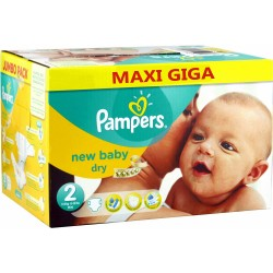 1296 Couches Pampers New Baby Dry taille 2 sur Les Looloos