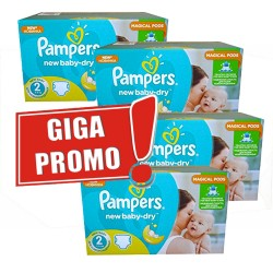 1440 Couches Pampers New Baby Dry taille 2 sur Les Looloos